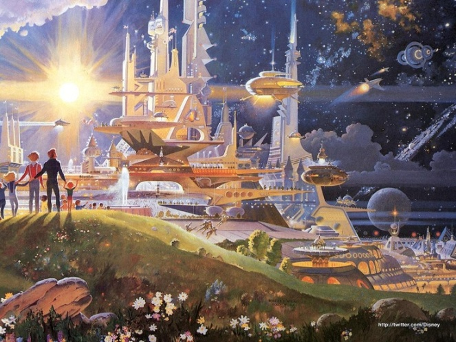 """The Prologue and the Promise"" Horizons Mural, Epcot"