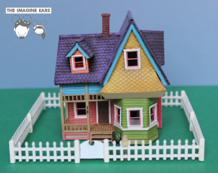 HO Scale model train house from Pixar's Up