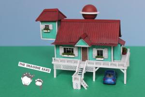 Imagine Ears - HO Train scale Disney Lilo & Stitch house
