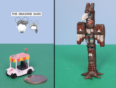 HO Scale Gravity Falls Mystery Shack Golf Cart & Totem Pole by the Imagine Ears