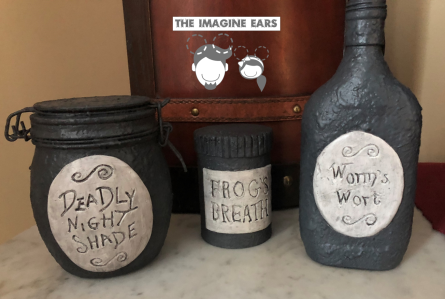 IImagine Ears Nightmare Before Christmas Sally Jars Potions Night Shade Worms Wort Frog's Breath