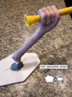 Imagine Ears Haunted Mansion DIY arm torch wall sconce