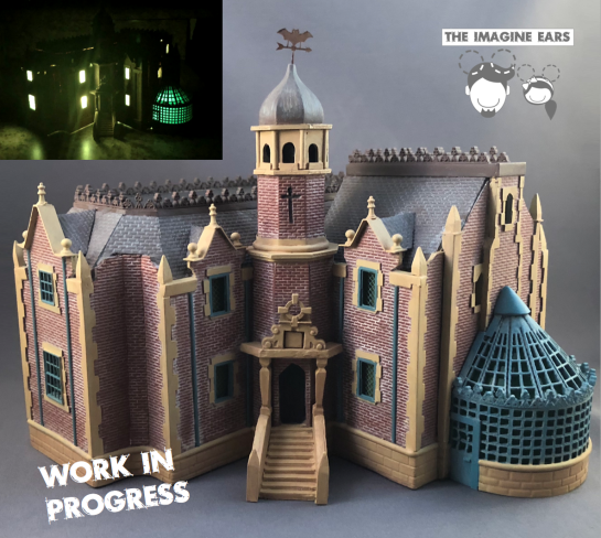 Imagine Ears HO scale miniature Disney Haunted Mansion