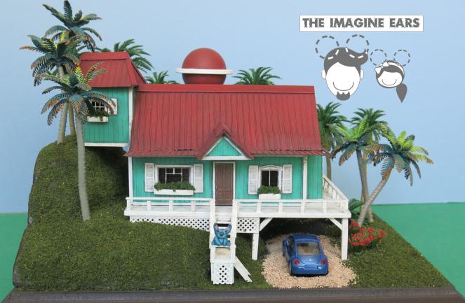Lilo Stitch miniature house 1:87 HO scale