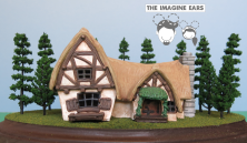 1:87 Ho Scale Snow White and the Seven 7 Dwarfs Dwarves Cottage