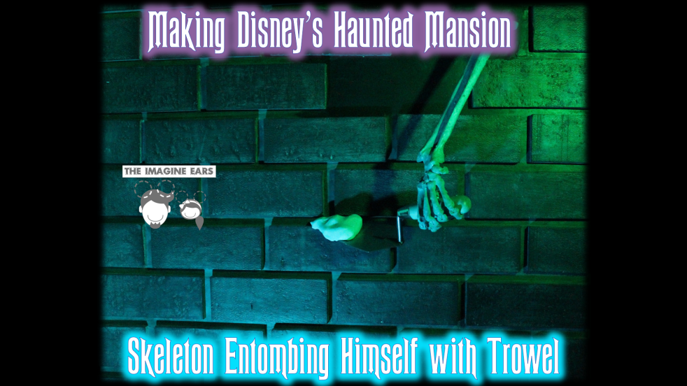 Haunted Mansion graveyard cemetery arm trowel brick wall DIY