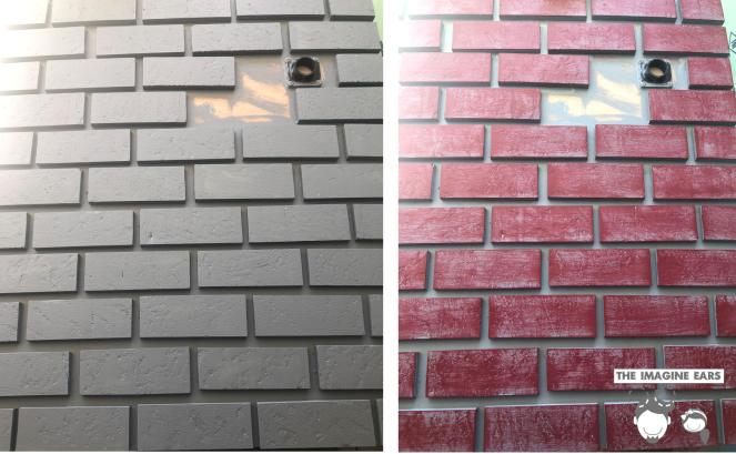 Haunted Mansion graveyard cemetery arm trowel brick wall DIY