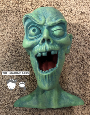 Haunted Mansion Cemetery graveyard pop up ghost head teacup arm