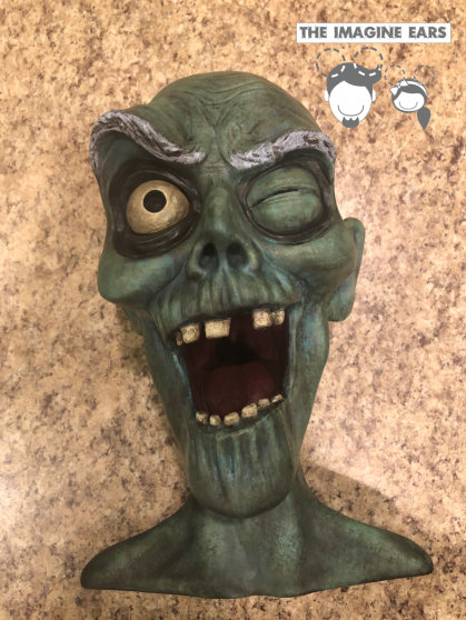 Haunted Mansion Cemetery graveyard pop up ghost head teacup arm