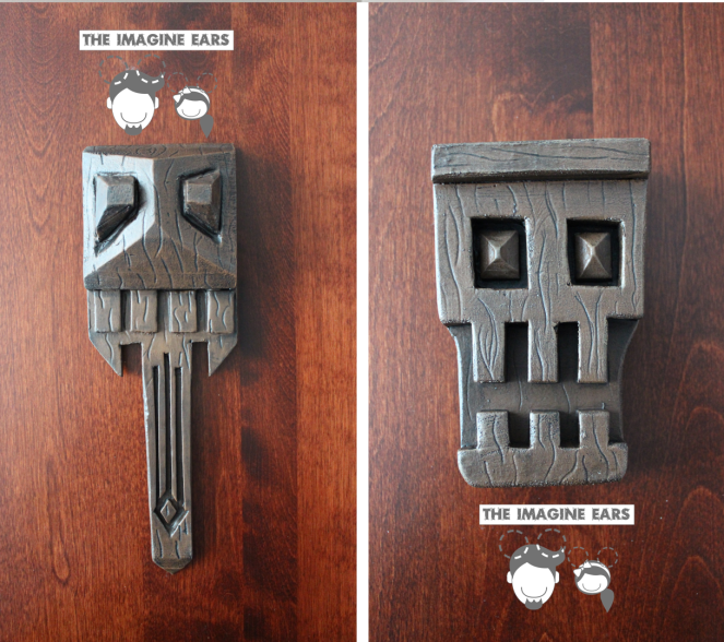 DIY Haunted Mansion Skull Wall corbel details