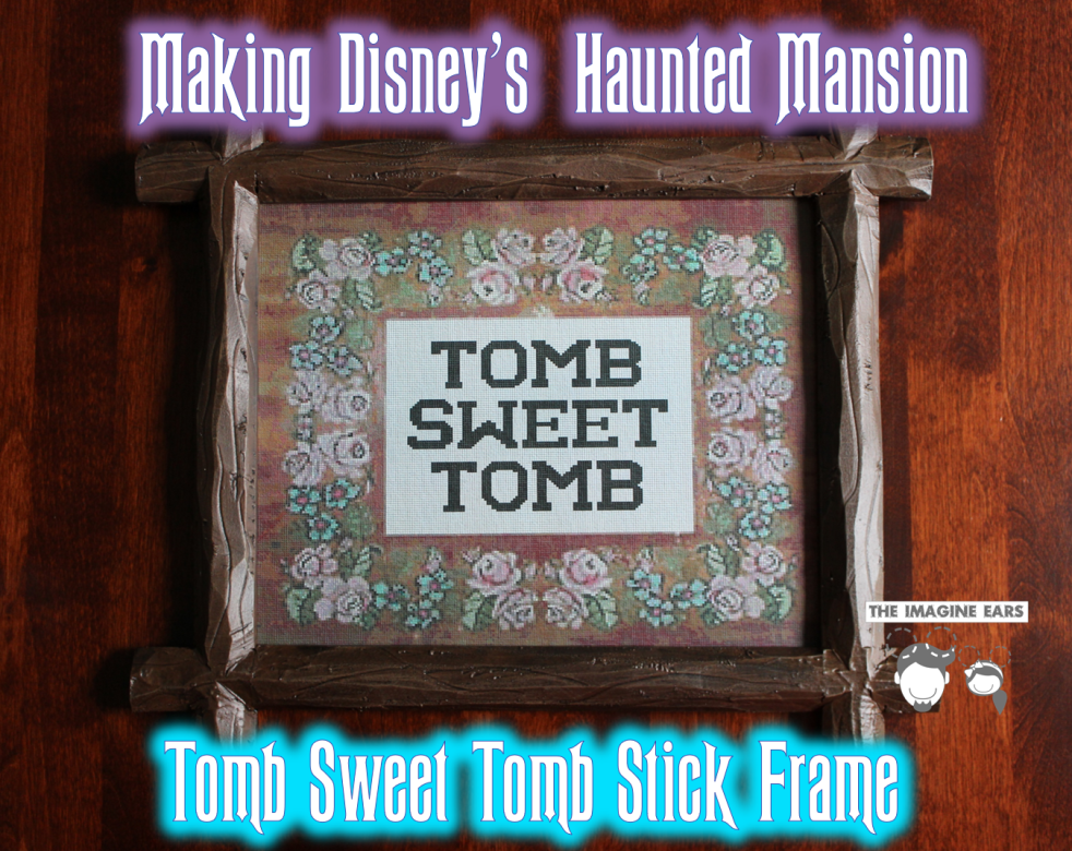 DIY Haunted Mansion Tomb Sweet Tomb Stick Frame