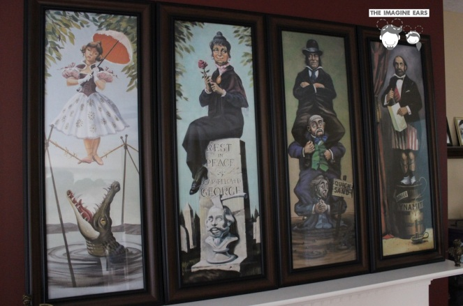 DIY Haunted Mansion Stretching Portraits for $30 a piece