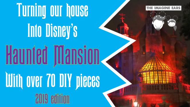 DIY budget replica props pieces Disney Haunted mansion halloween party