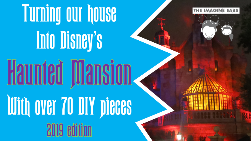 DIY budget replica props pieces Disney Haunted mansion halloween party
