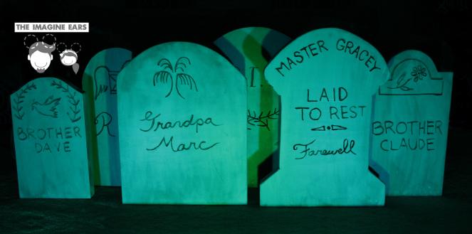 haunted mansion diy imagineer tombstones in foam