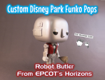 Imagine Ears Disney Epcot Horizons Robot Butler custom Funko Pop