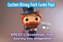 Imagine Ears Custom Funko Pop Epcot Dreamfinder Figment Journey Into Imagination