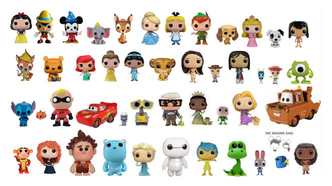 Imagine Ears Funko Pops Disney Movie Character background wallpaper