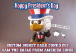 Imagine Ears custom Disney Parks Funko Pop - Sam the Eagle from America Sings